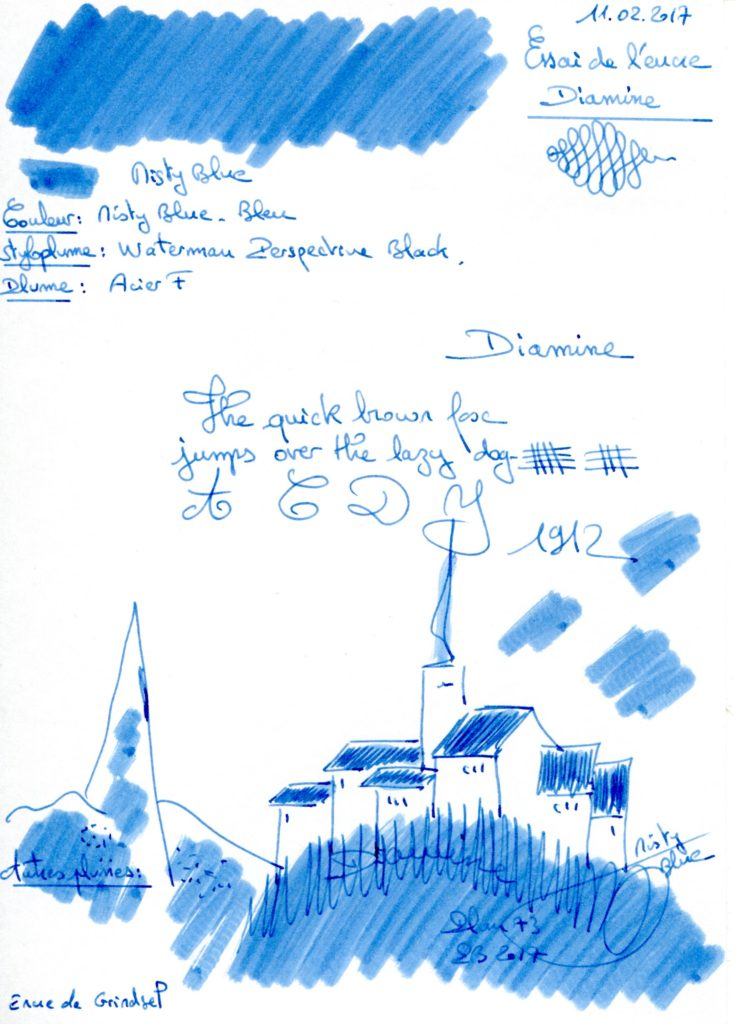 Misty Blue Ink Diamine