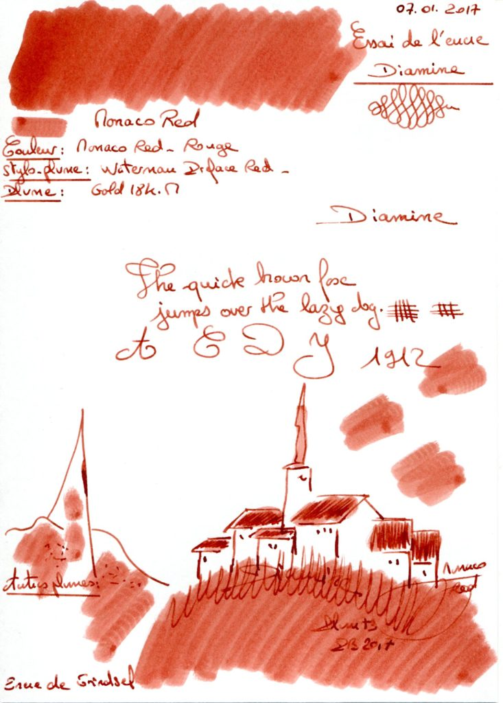 Monaco red Ink Diamine