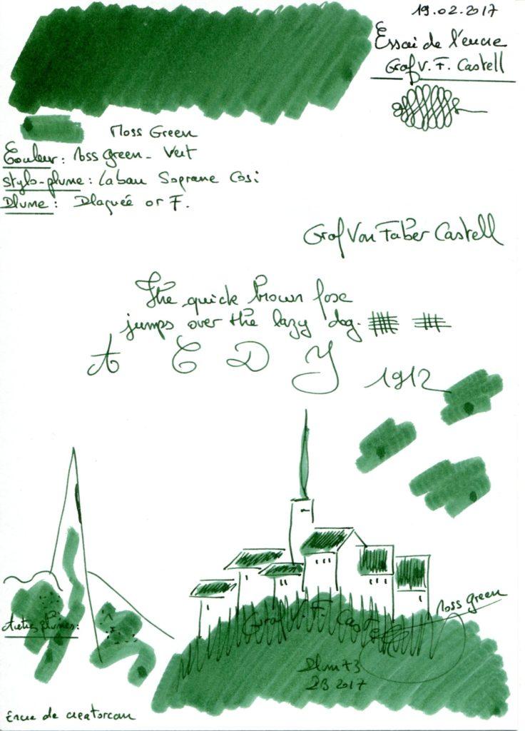 Moss Green Ink Graf Von Faber Castell