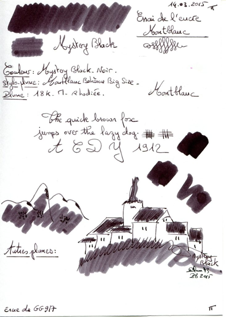 Mystery black Ink Montblanc