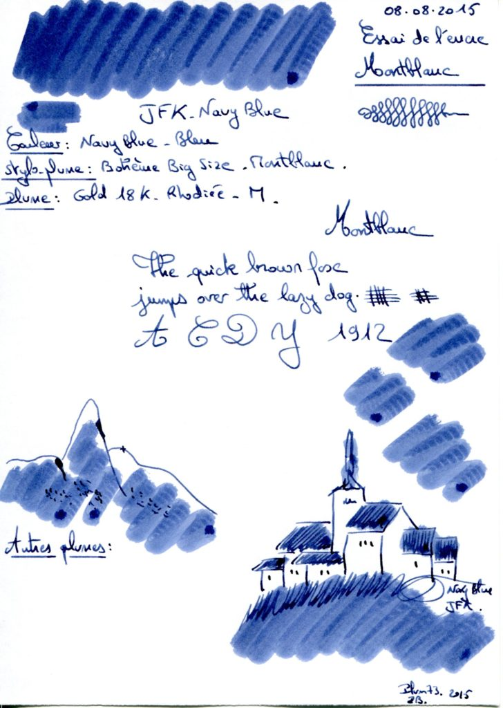 Navy Blue JFK Ink Montblanc