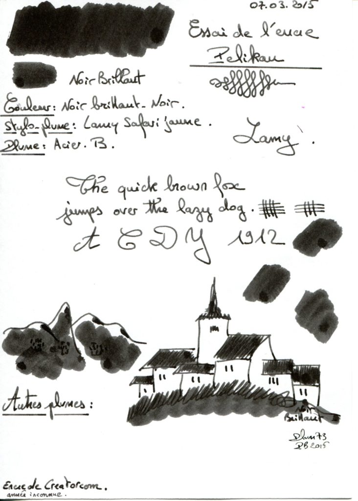 Noir brillant Ink Pelikan