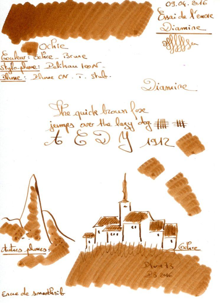 Ochre Ink Diamine