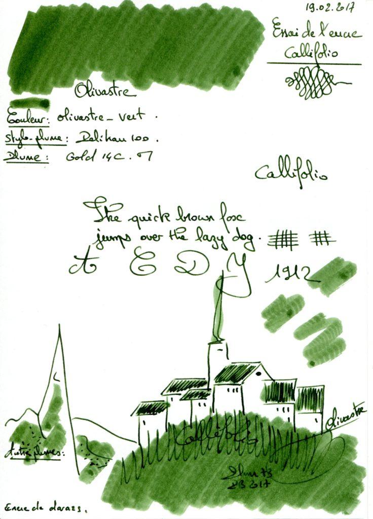 Olivastre Ink Callifolio