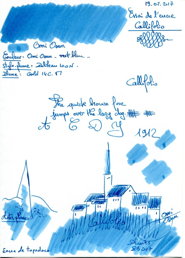 Omi Osun Ink Callifolio