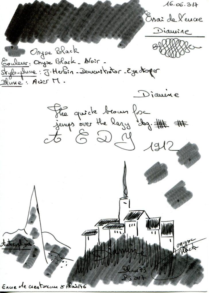Onyx Black Ink Diamine