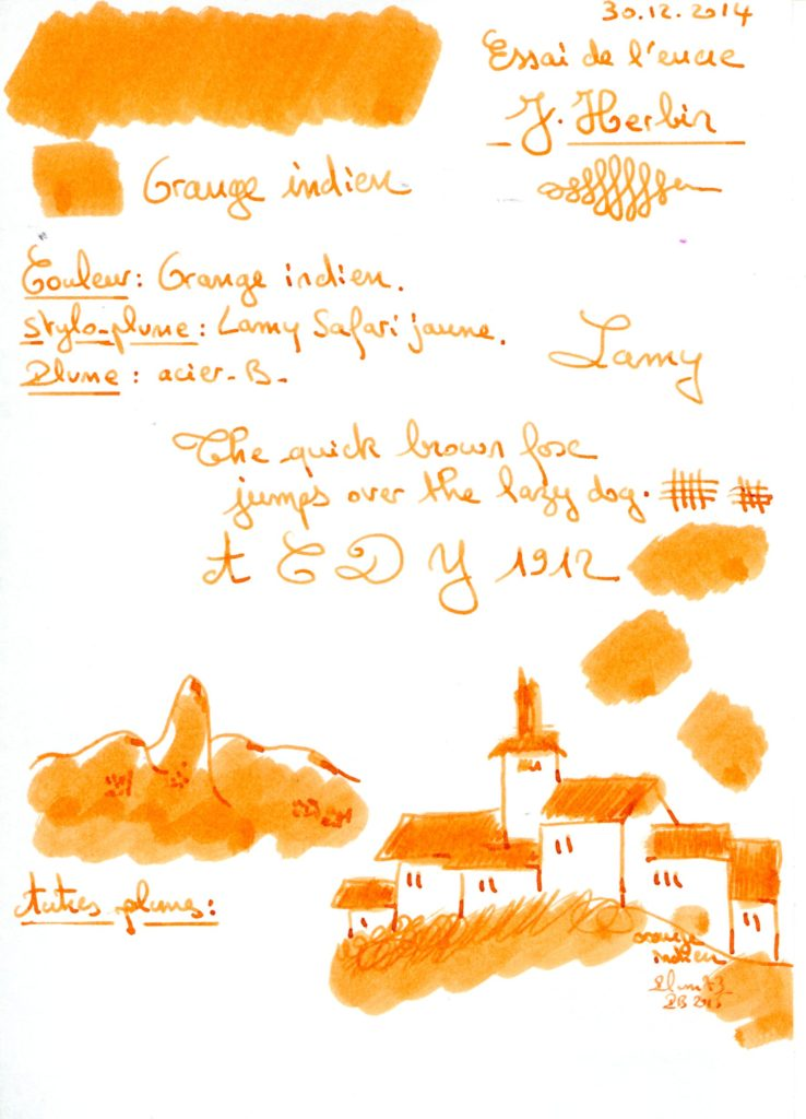 Orange Indien Ink J Herbin
