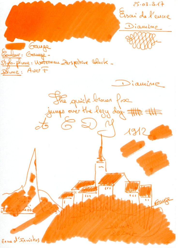 Orange Ink Diamine