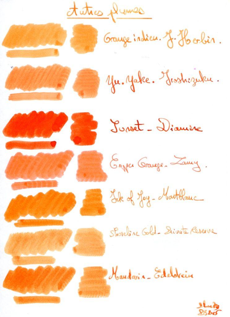 Orange ink 1