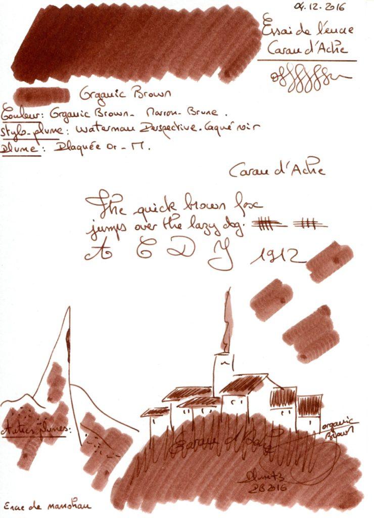 Organic Brown Ink Caran dAche