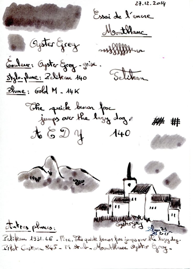 Oyster Grey Ink Montblanc