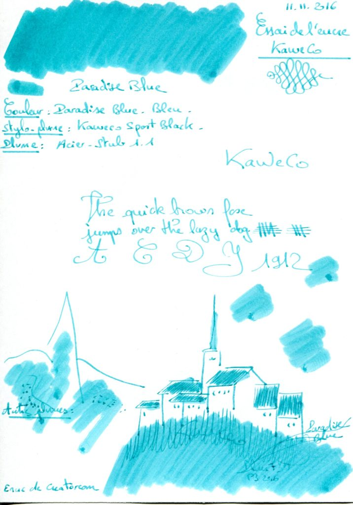 Paradise blue Ink Kaweco