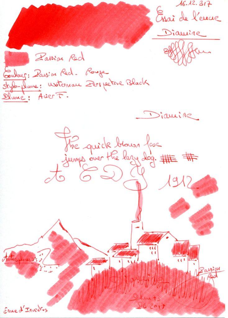 Passion red Ink Diamine