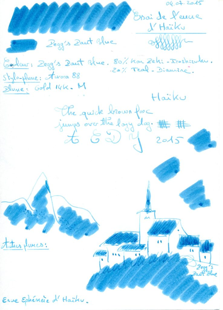 Peggs Pant Blue ink Haiku