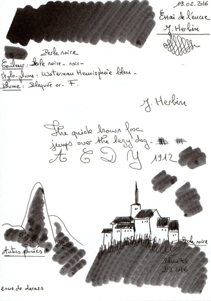 Perle noire Ink J Herbin