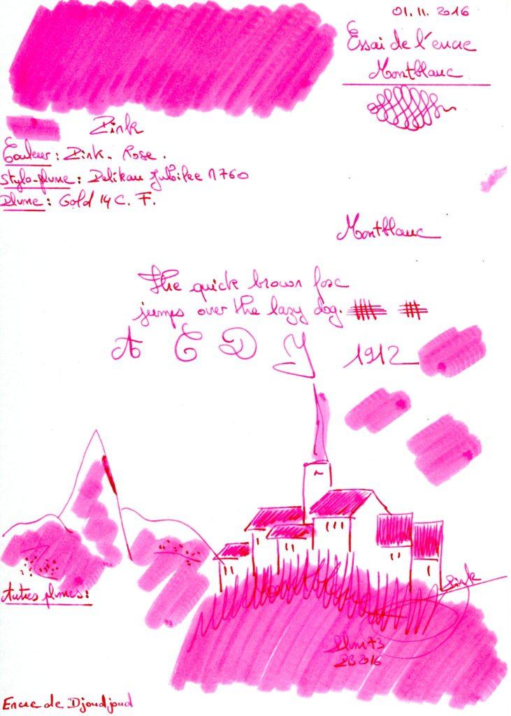 Pink Ink Montblanc