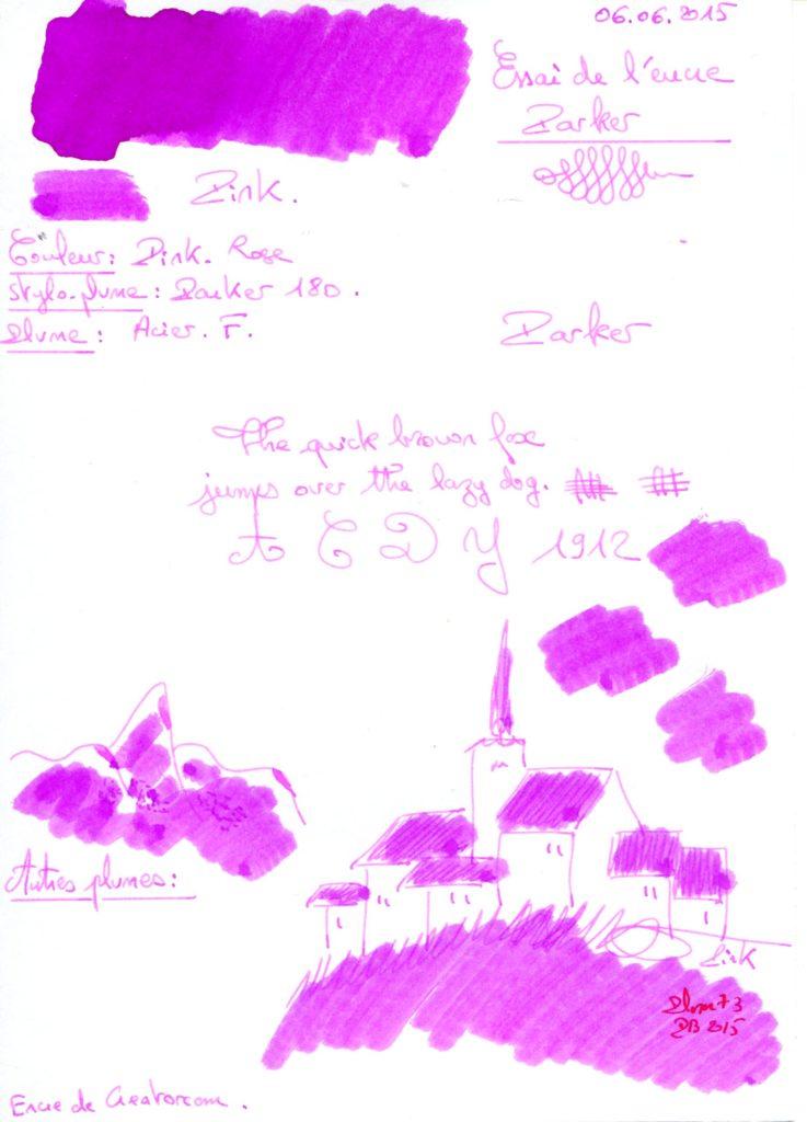 Pink Ink Parker