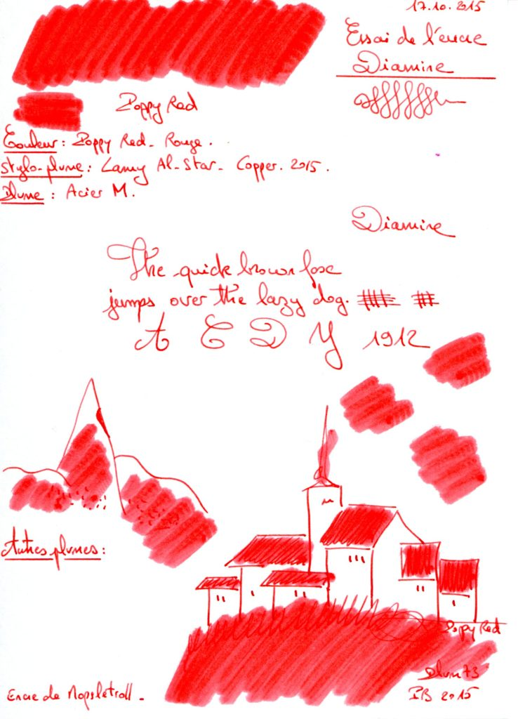 Poppy red Ink Diamine