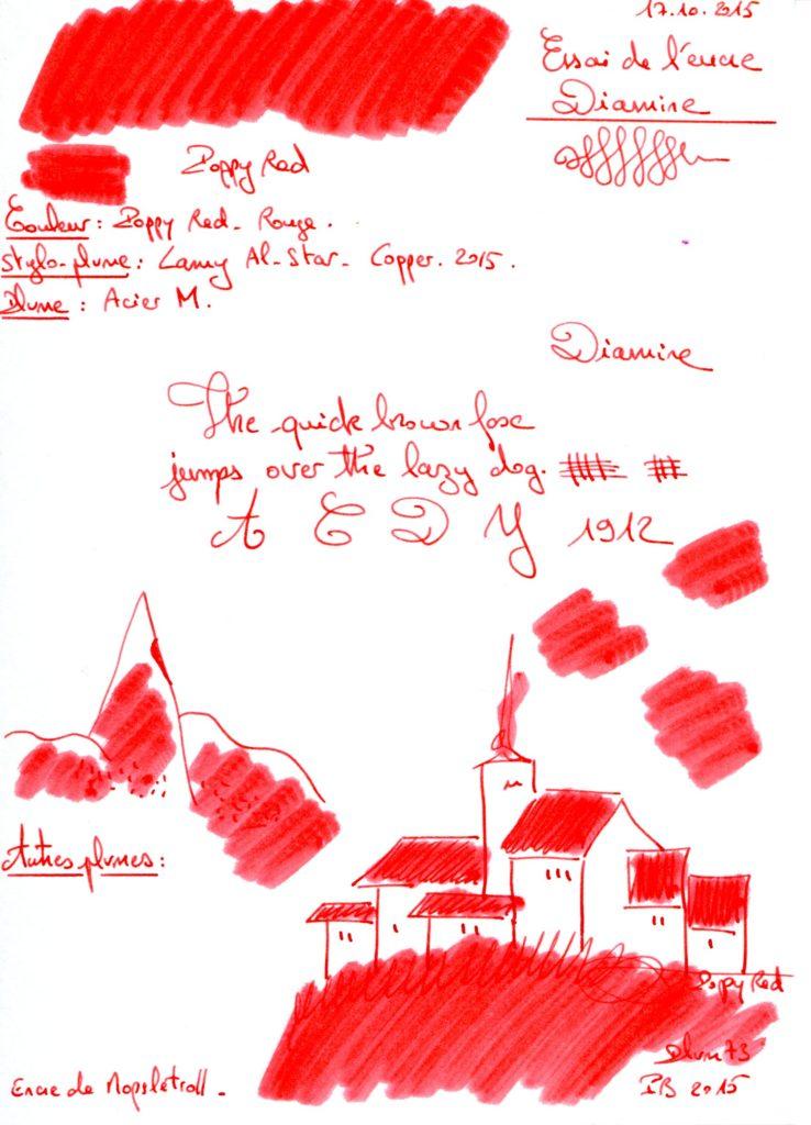 Poppy red Ink Diamine