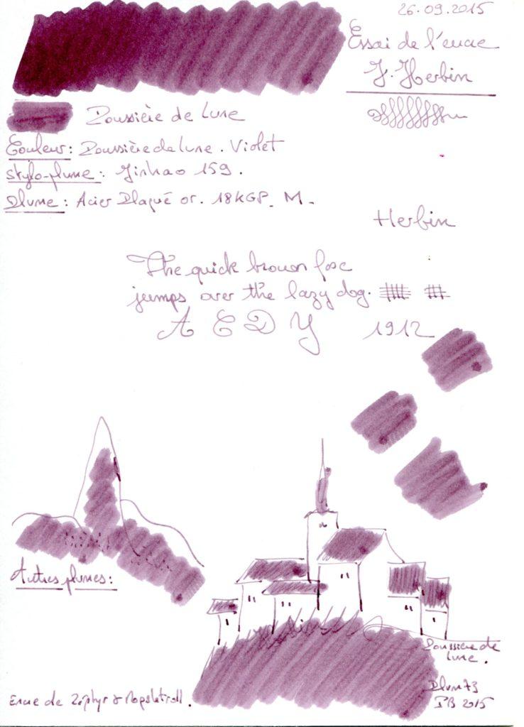 Poussiere de lune Ink J Herbin