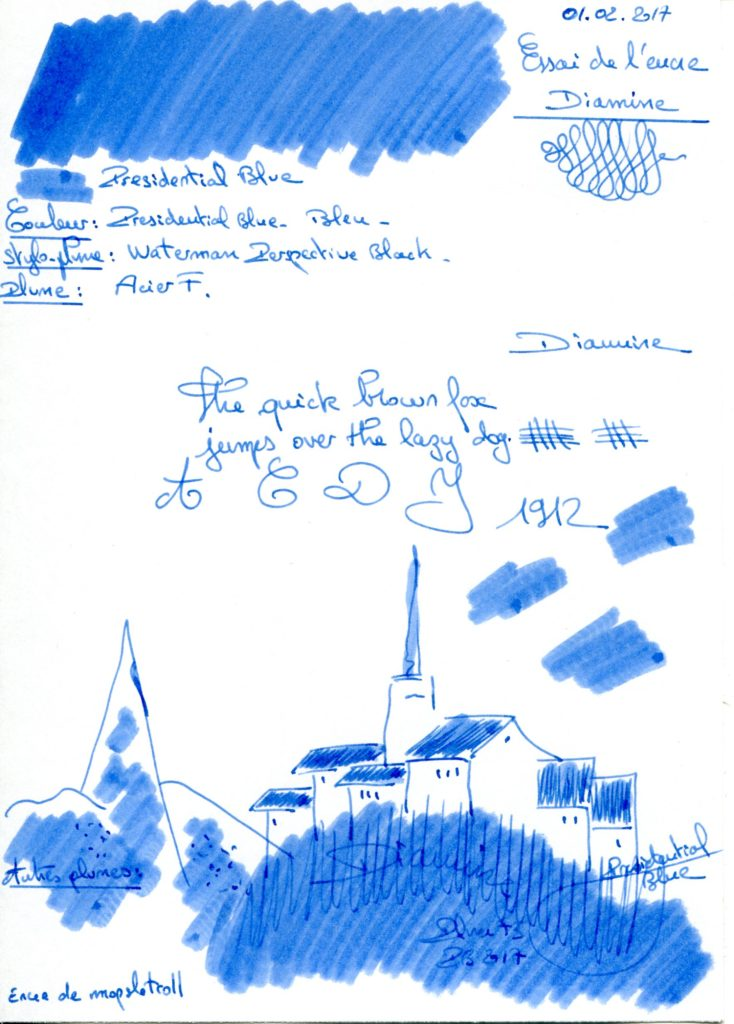 Presidential blue Ink Diamine