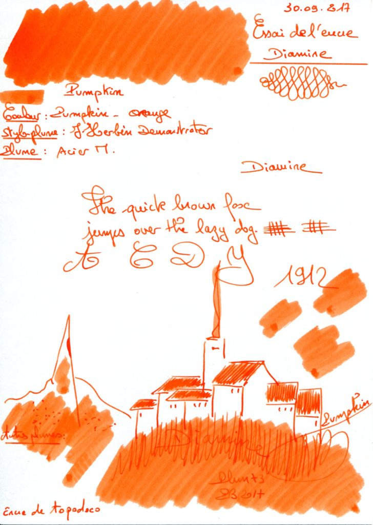 Pumpkin Ink Diamine
