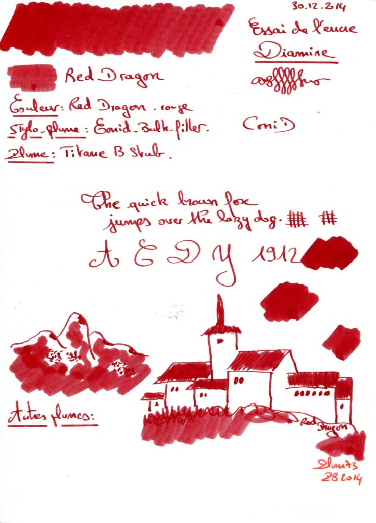 Red Dragon Ink Diamine