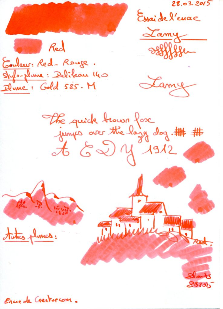 Red Ink Lamy