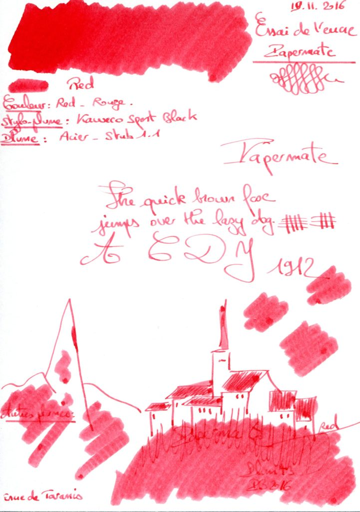 Red Ink Papermate