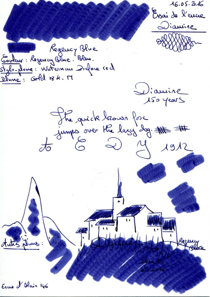 Regency blue Ink Diamine