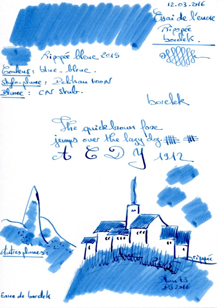 Ripopée bleu 2015 Ink borelek