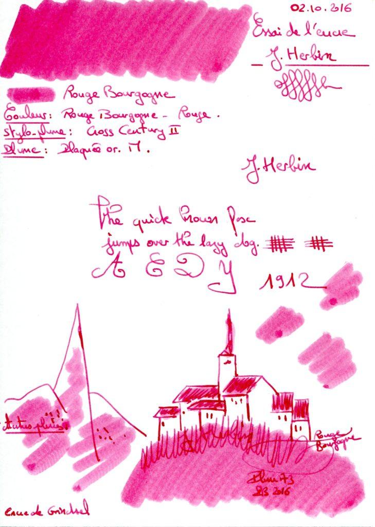 Rouge Bourgogne Ink J Herbin