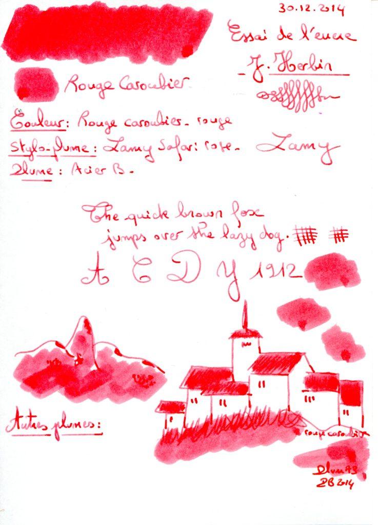 Rouge caroubier Ink J Herbin