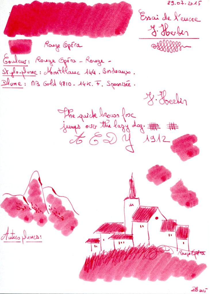 Rouge opera Ink J Herbin
