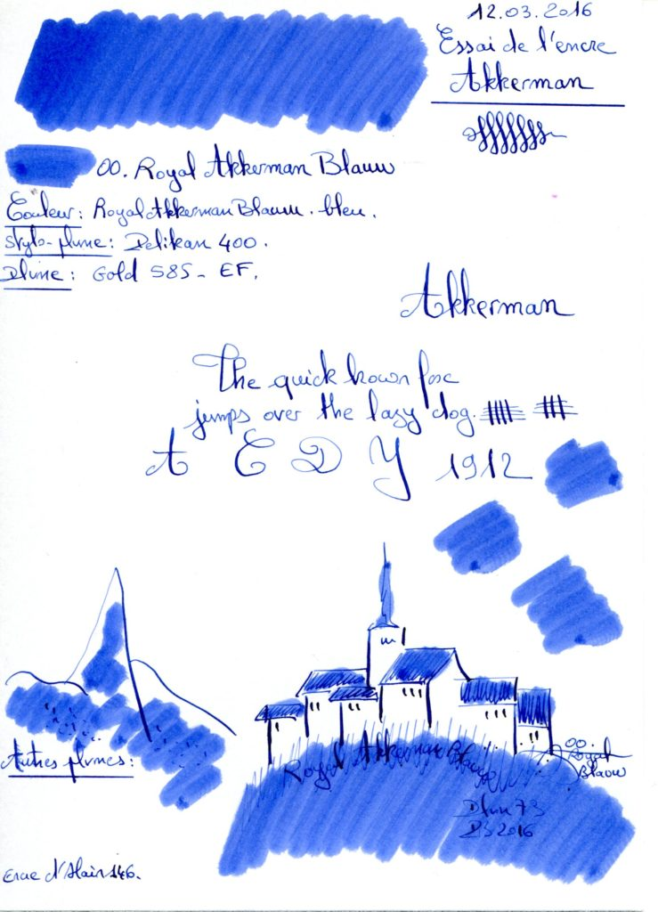 Royal Akkerman Blauw 00 Ink Akkerman