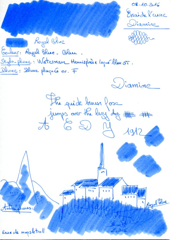 Royal Blue Ink Diamine