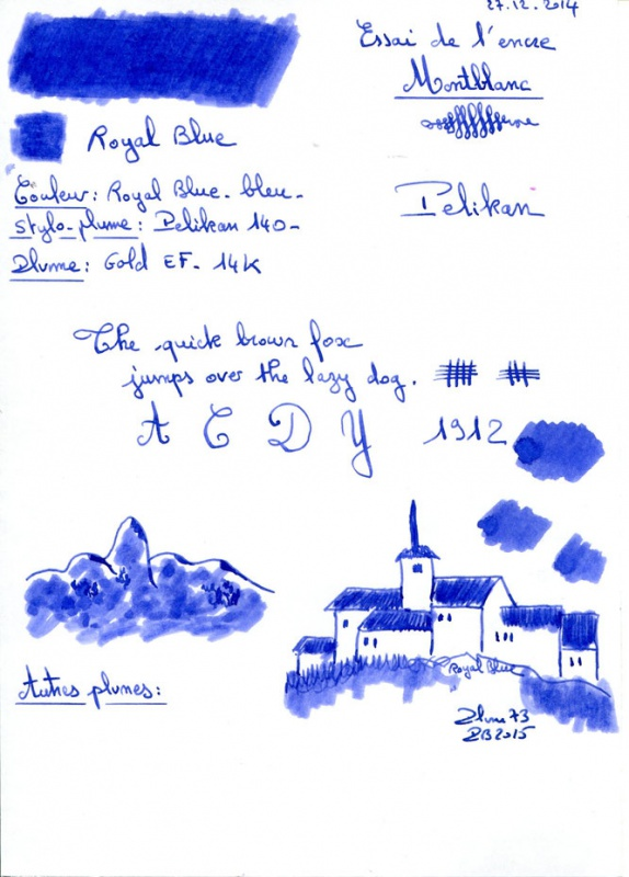 Royal Blue Ink Montblanc