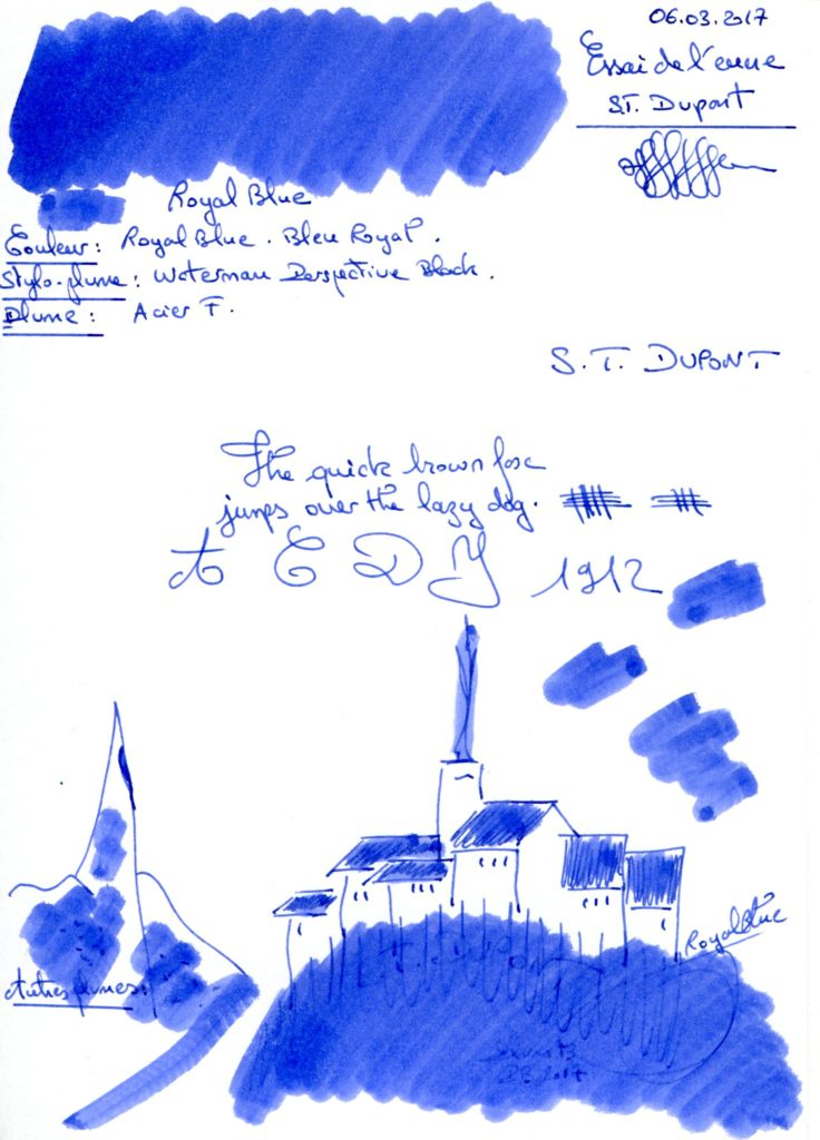 Royal Blue ink ST Dupont
