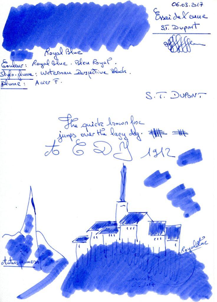 Royal Blue ink ST Dupont