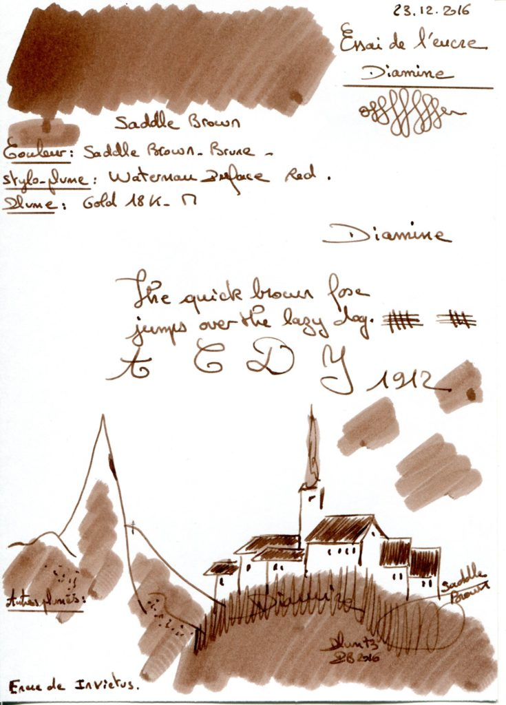 Saddle Brown Ink Diamine