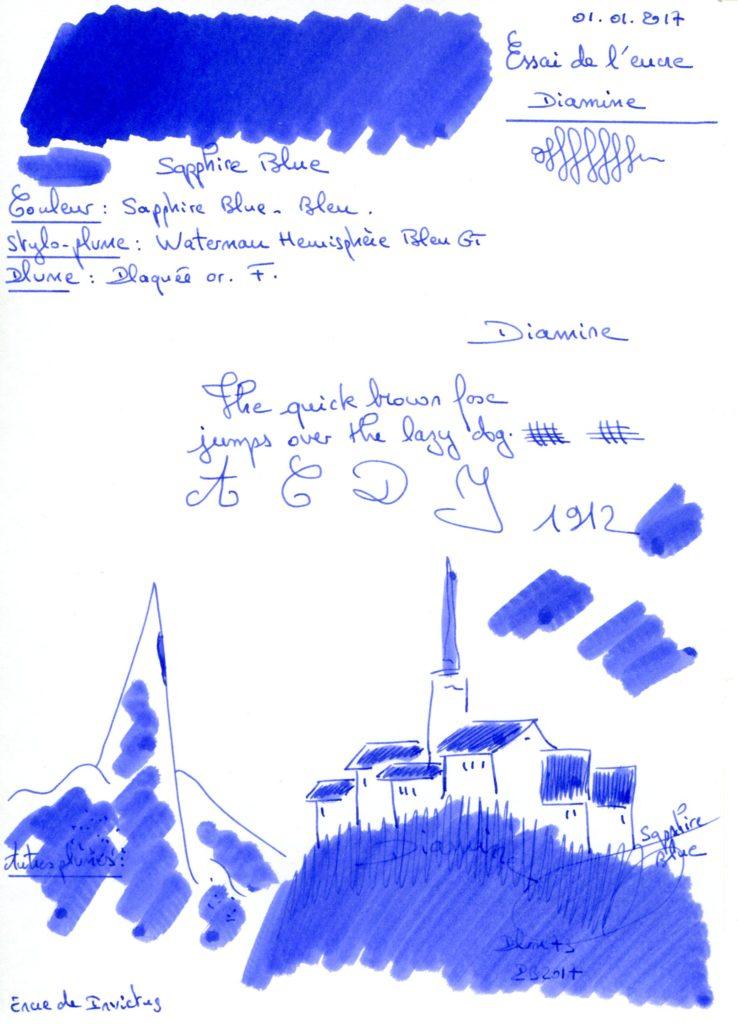 Sapphire Blue Ink Diamine