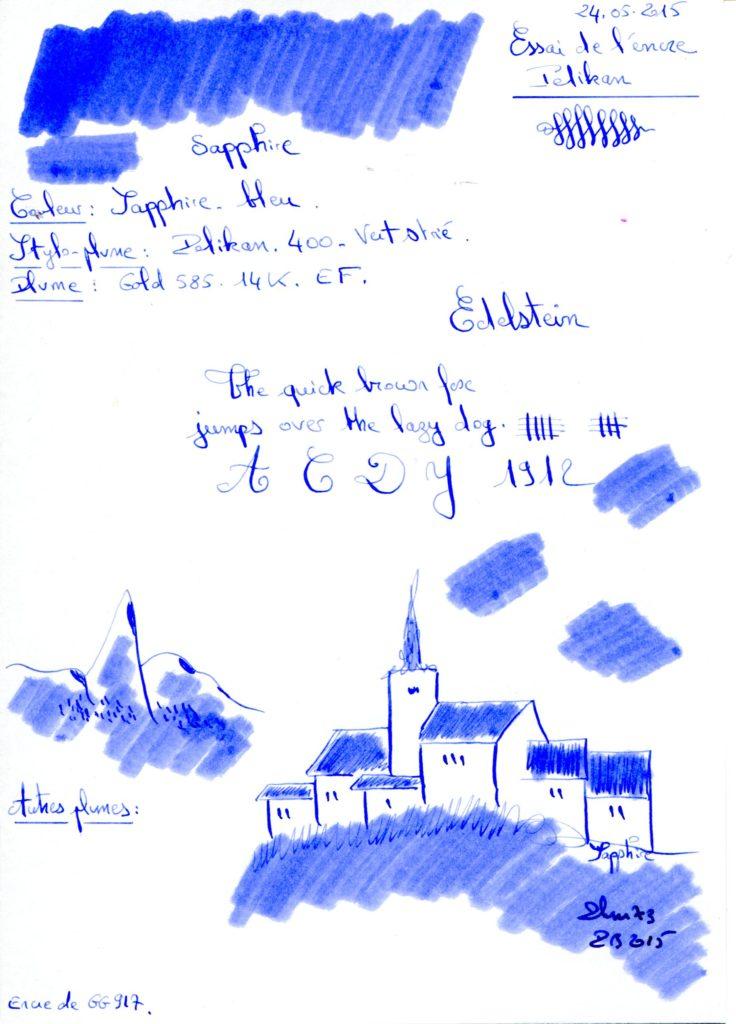 Sapphire Ink Edelstein