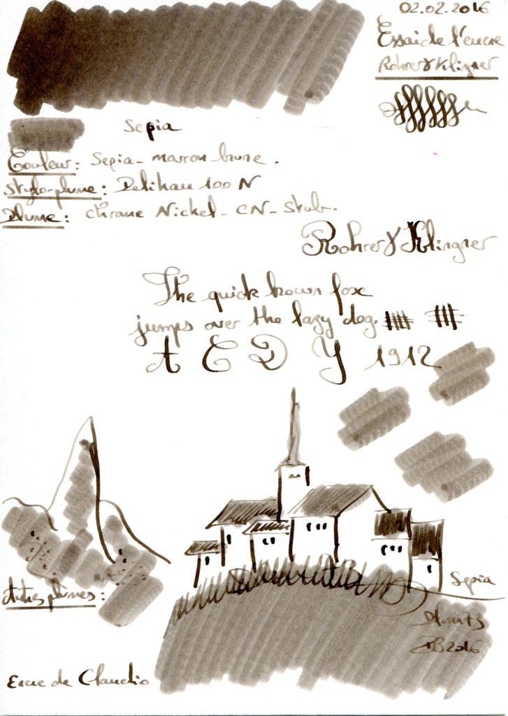 Sepia Ink Rohrer Klingner