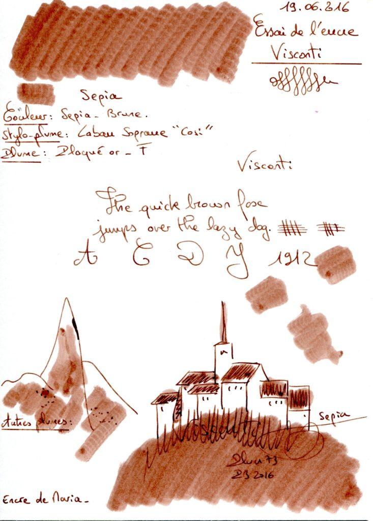 Sepian Ink Visconti