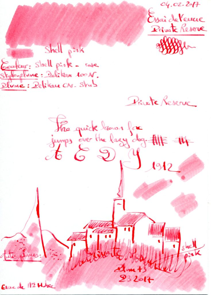 Shell Pink Ink Private Reserve