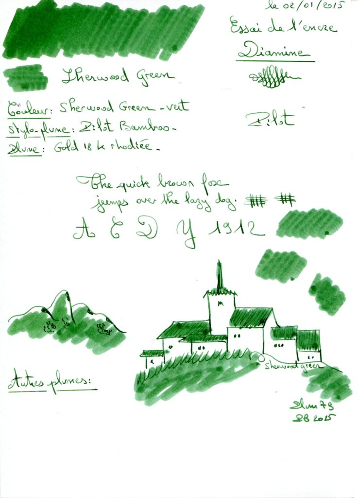 Sherwood green Ink diamine