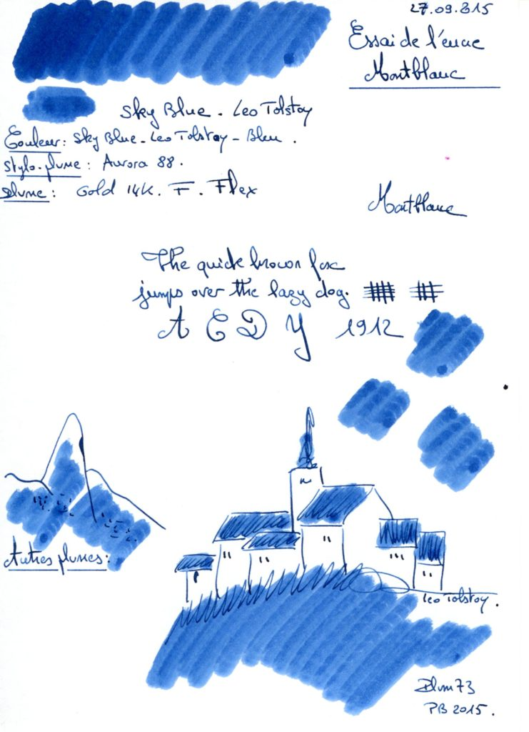 Sky blue Tolstoy Ink Montblanc