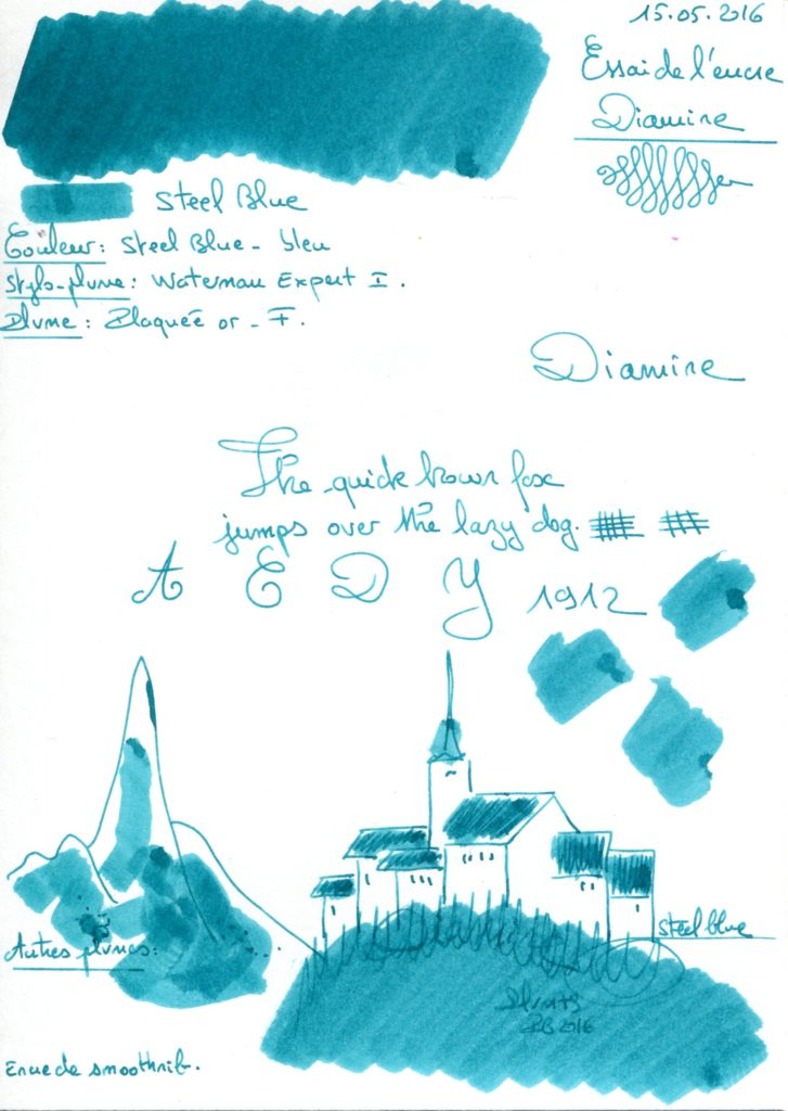 Steel blue Ink Diamine