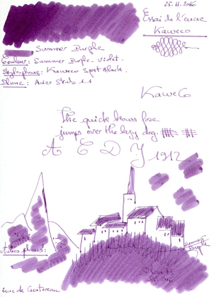 Summer Purple Ink Kaweco