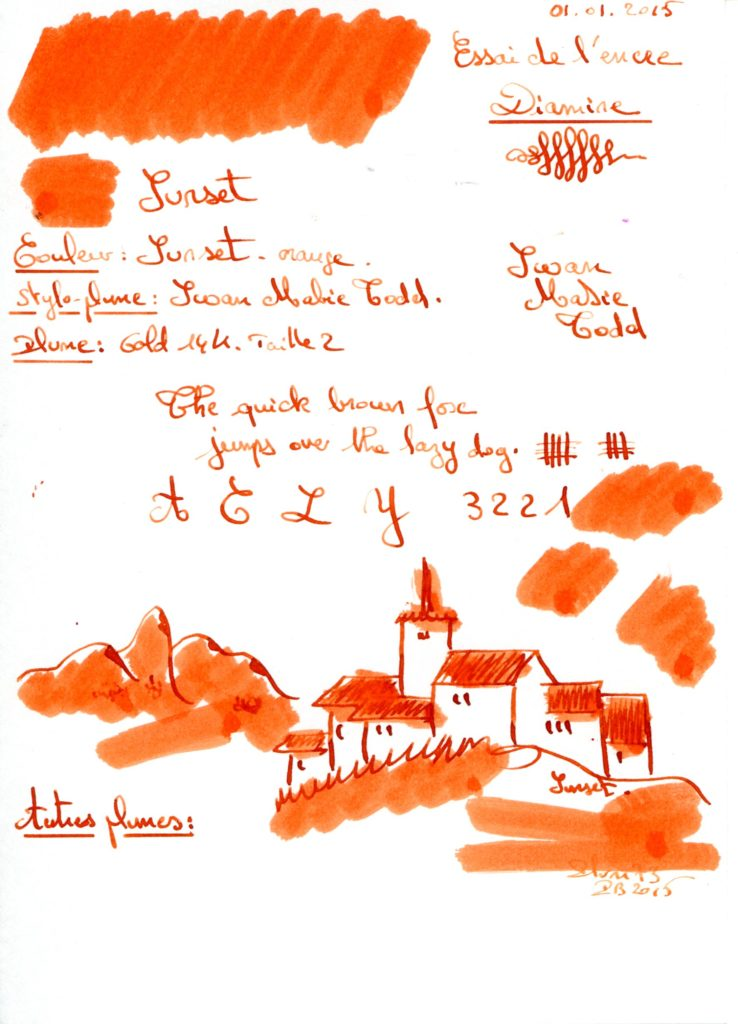 Sunset Ink Diamine